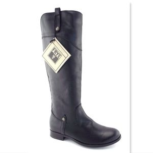 New FRYE Black Leather Riding Style Boots 8